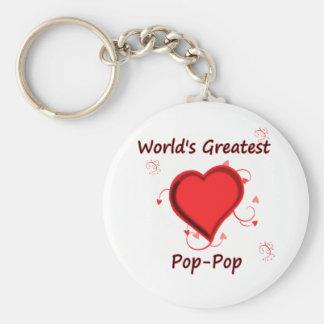 World's Greatest pop-pop Basic Round Button Keychain