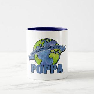 World's Greatest Poppa Two-Tone Coffee Mug