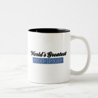 World's Greatest PopPop (Blue) Two-Tone Coffee Mug