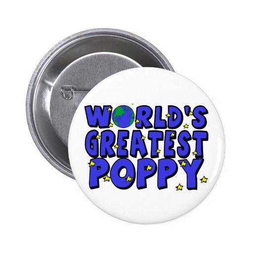 World's Greatest Poppy 2 Inch Round Button