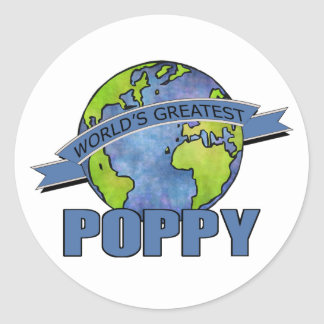 World's Greatest Poppy Classic Round Sticker