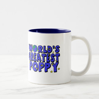 World's Greatest Poppy Two-Tone Coffee Mug