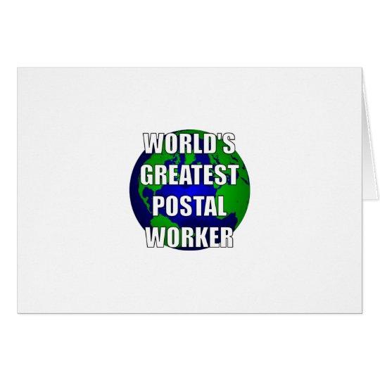 World's Greatest Postal Worker Card