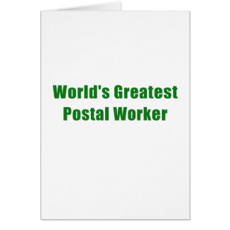 Worlds Greatest Postal Worker Card