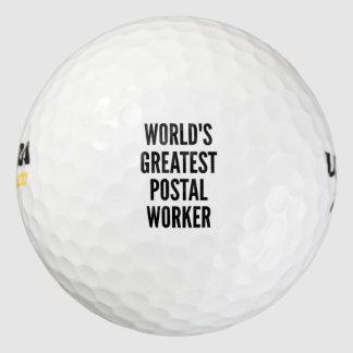 Worlds Greatest Postal Worker Golf Balls