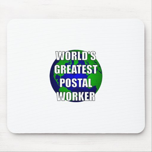 World's Greatest Postal Worker Mouse Pad
