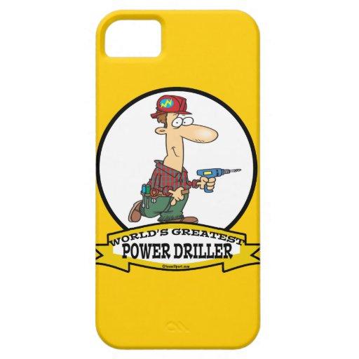 WORLDS GREATEST POWER DRILLER MEN CARTOON iPhone 5 COVERS