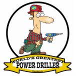 WORLDS GREATEST POWER DRILLER MEN CARTOON PHOTO CUTOUTS
