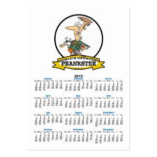 WORLDS GREATEST PRANKSTER MEN CARTOON LARGE BUSINESS CARDS (Pack OF 100)