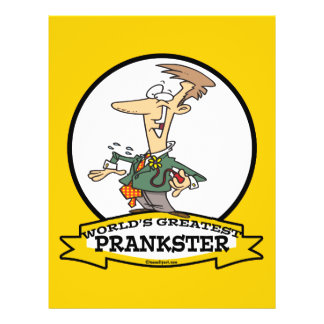 WORLDS GREATEST PRANKSTER MEN CARTOON FULL COLOR FLYER