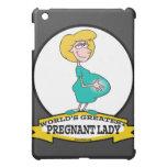 WORLDS GREATEST PREGNANT LADY CARTOON iPad MINI COVER