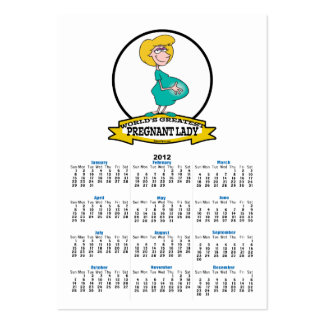 WORLDS GREATEST PREGNANT LADY CARTOON LARGE BUSINESS CARDS (Pack OF 100)