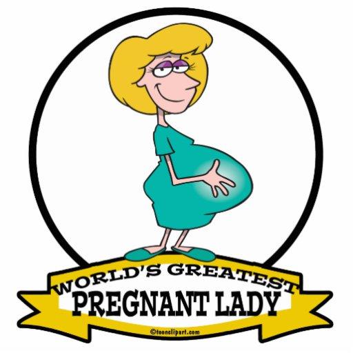 WORLDS GREATEST PREGNANT LADY CARTOON ACRYLIC CUT OUT