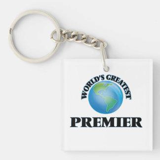 World's Greatest Premier Square Acrylic Keychains