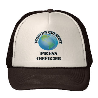 World's Greatest Press Officer Mesh Hats