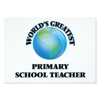 World's Greatest Primary School Teacher Personalized Invites