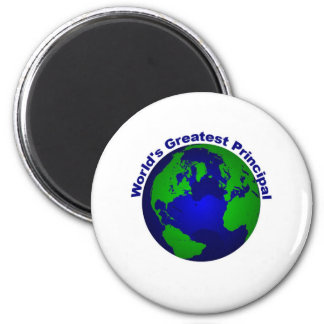 World's Greatest Principal 2 Inch Round Magnet