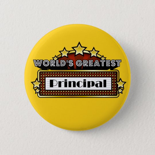 World's Greatest Principal Pinback Button