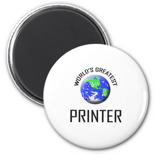 World's Greatest Printer 2 Inch Round Magnet