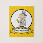 WORLDS GREATEST PRIVATE INVESTIGATOR MEN CARTOON JIGSAW PUZZLE