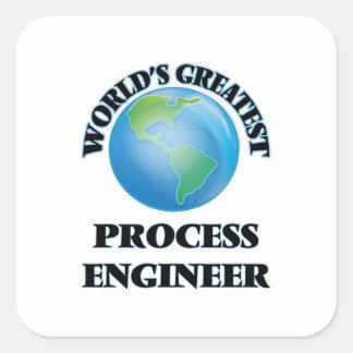World's Greatest Process Engineer Square Sticker