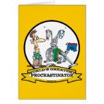 WORLDS GREATEST PROCRASTINATOR MEN CARTOON GREETING CARDS
