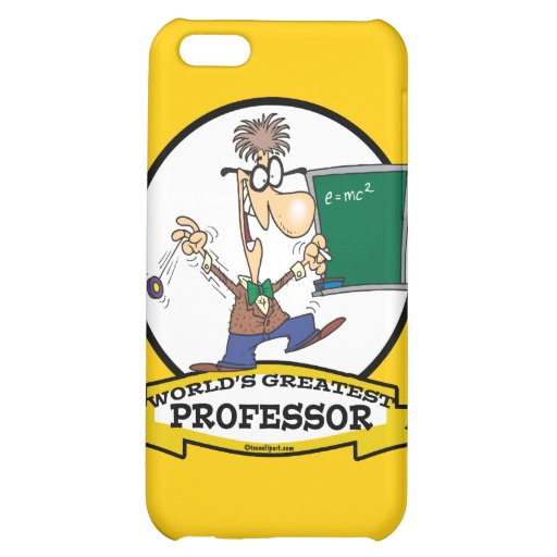 WORLDS GREATEST PROFESSOR MEN CARTOON iPhone 5C CASE