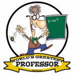 WORLDS GREATEST PROFESSOR MEN CARTOON ACRYLIC CUT OUTS
