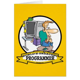 WORLDS GREATEST PROGRAMMER MEN CARTOON CARD