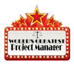 "World&#39;s Greatest Project Manager Statuette<br><div class=""desc"">World&#39;s Greatest Project Manager shirts, apparel and gifts to recognize a special employee, staff member, colleague or team member specifically in the legal field. This design has a star inspired marquee pronouncing the world&#39;s greatest at their field or specialty featuring a law scale graphic. We offer this design on shirts,...</div>"