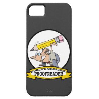 WORLDS GREATEST PROOFREADER CARTOON iPhone SE/5/5s CASE