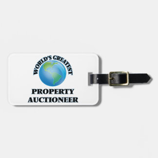 World's Greatest Property Auctioneer Travel Bag Tags