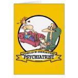 WORLDS GREATEST PSYCHIATRIST CARTOON GREETING CARDS