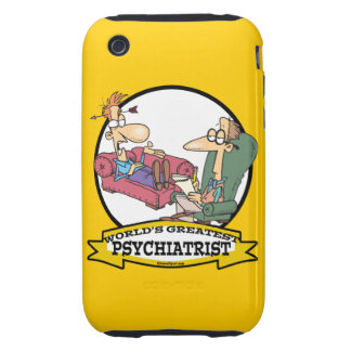 WORLDS GREATEST PSYCHIATRIST CARTOON iPhone 3 TOUGH CASES