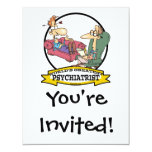 "WORLDS GREATEST PSYCHIATRIST CARTOON 4.25"" X 5.5"" INVITATION CARD"