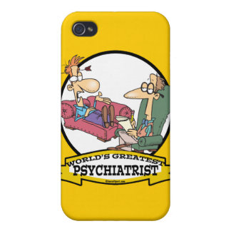 WORLDS GREATEST PSYCHIATRIST CARTOON iPhone 4/4S CASES