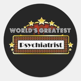 World's Greatest Psychiatrist Classic Round Sticker