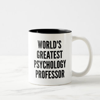 Worlds Greatest Psychology Professor Two-Tone Coffee Mug