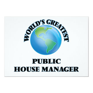"""World's Greatest Public House Manager 5"""" X 7"""" Invitation Card"""