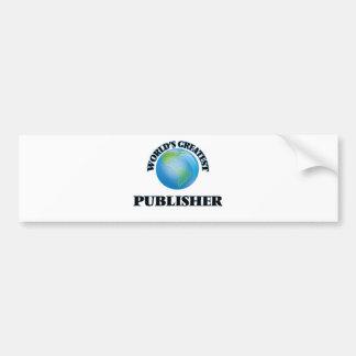 World's Greatest Publisher Car Bumper Sticker