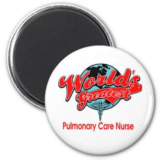 World's Greatest Pulmonary Care Nurse 2 Inch Round Magnet