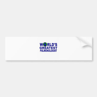 World's Greatest Pulmonologist Bumper Sticker