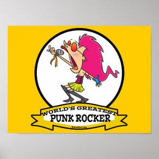 WORLDS GREATEST PUNK ROCKER GIRL CARTOON POSTER