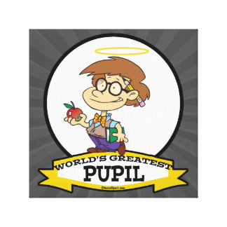 WORLDS GREATEST PUPIL BOY CARTOON CANVAS PRINTS