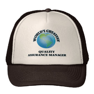 World's Greatest Quality Assurance Manager Trucker Hats