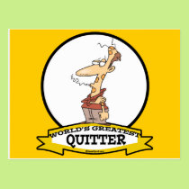 WORLDS GREATEST QUITTER SMOKER CARTOON POSTCARD