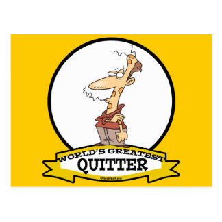 WORLDS GREATEST QUITTER SMOKER CARTOON POSTCARD