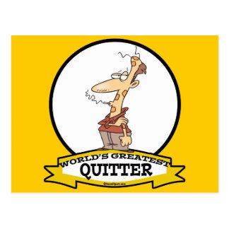WORLDS GREATEST QUITTER SMOKER CARTOON POST CARD