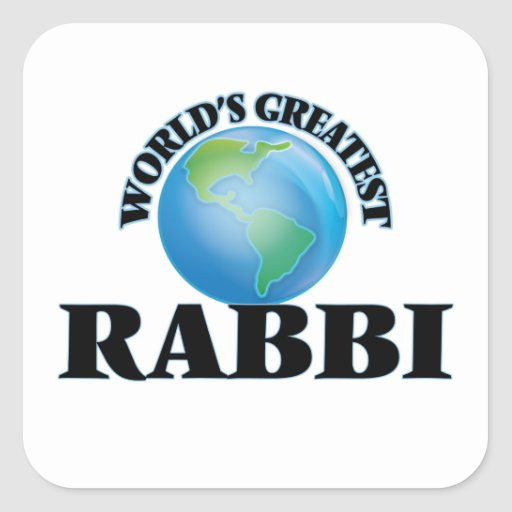World's Greatest Rabbi Square Sticker