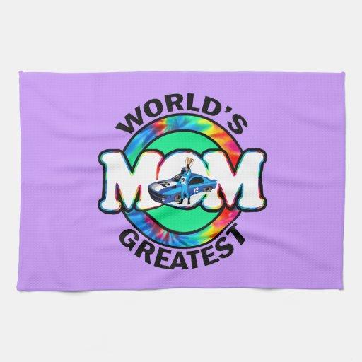 World's Greatest Racing Mom Hand Towels